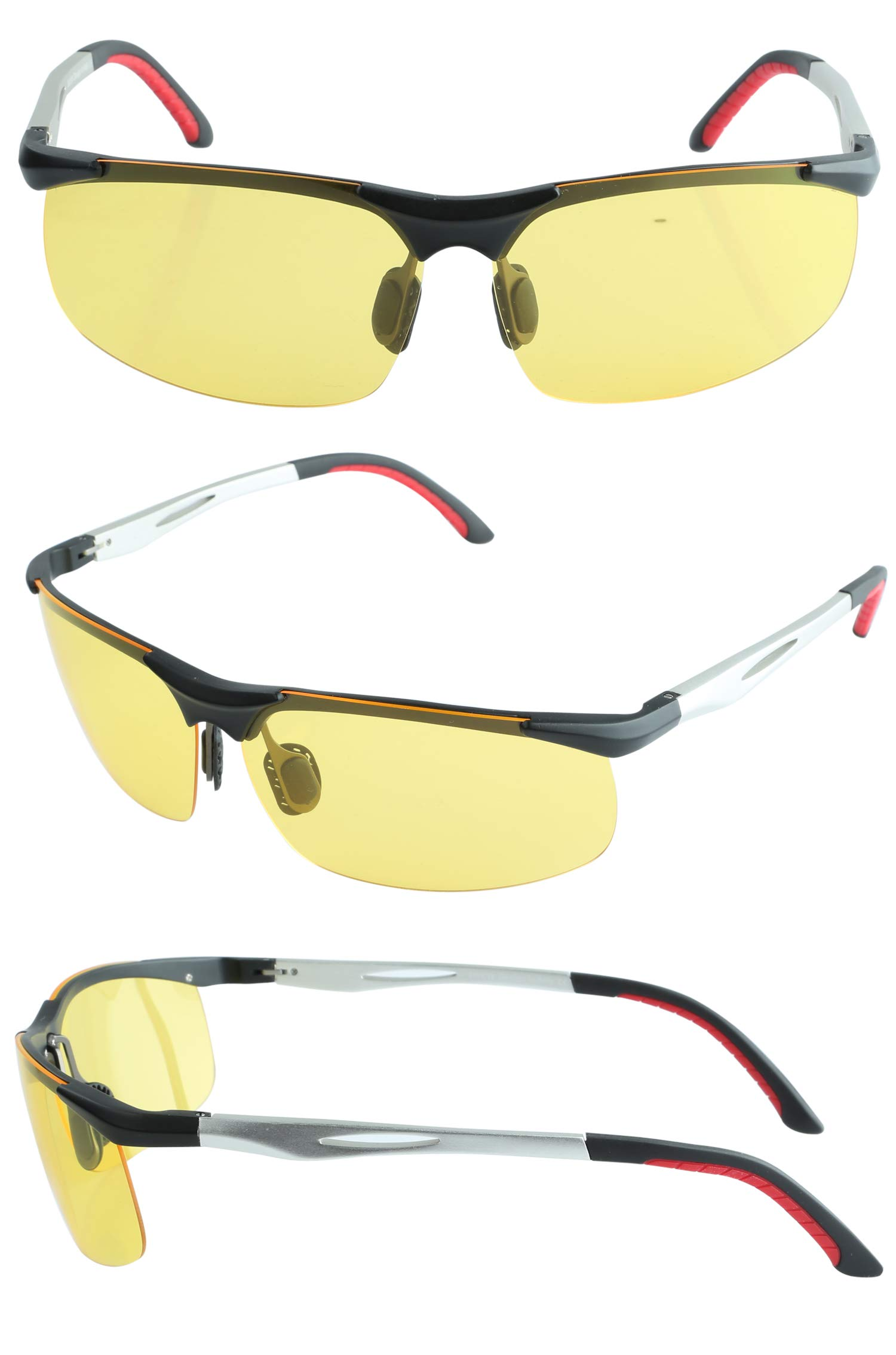 6f4bd54786b5 DUCO Night Driving Glasses with Polarized Yellow Lens for Cutting Headlight Glare  2181