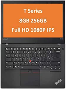 "2019 Lenovo ThinkPad T470 14"" IPS Full HD FHD (1920x1080) Business Laptop (Intel Core i5-6300U, 8GB DDR4 RAM, 256GB PCIe NVMe M.2 SSD) Thunderbolt, Type-C, HDMI RJ-45, Windows 10 Professional 64 Bit"
