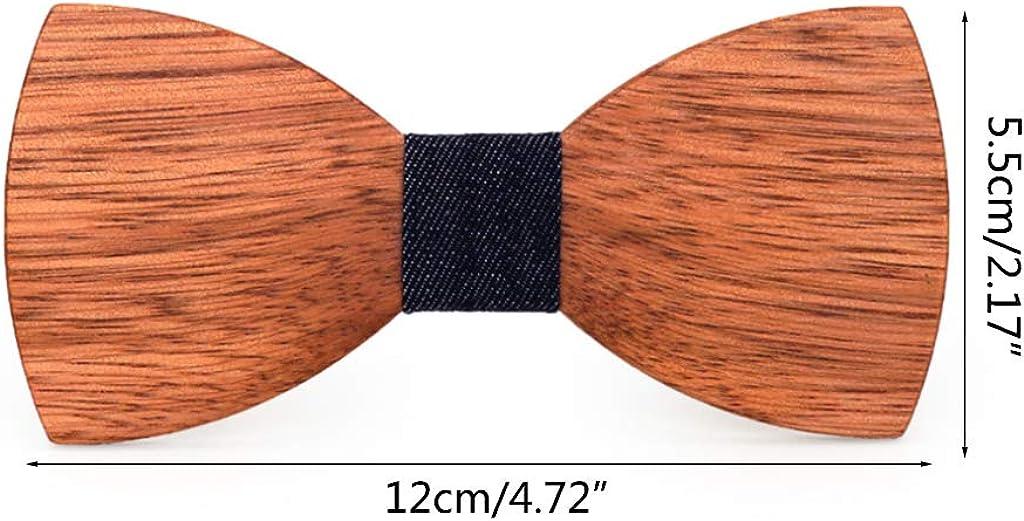 Mentin boda Pajarita de madera de alta calidad estilo cl/ásico para hombre corbata
