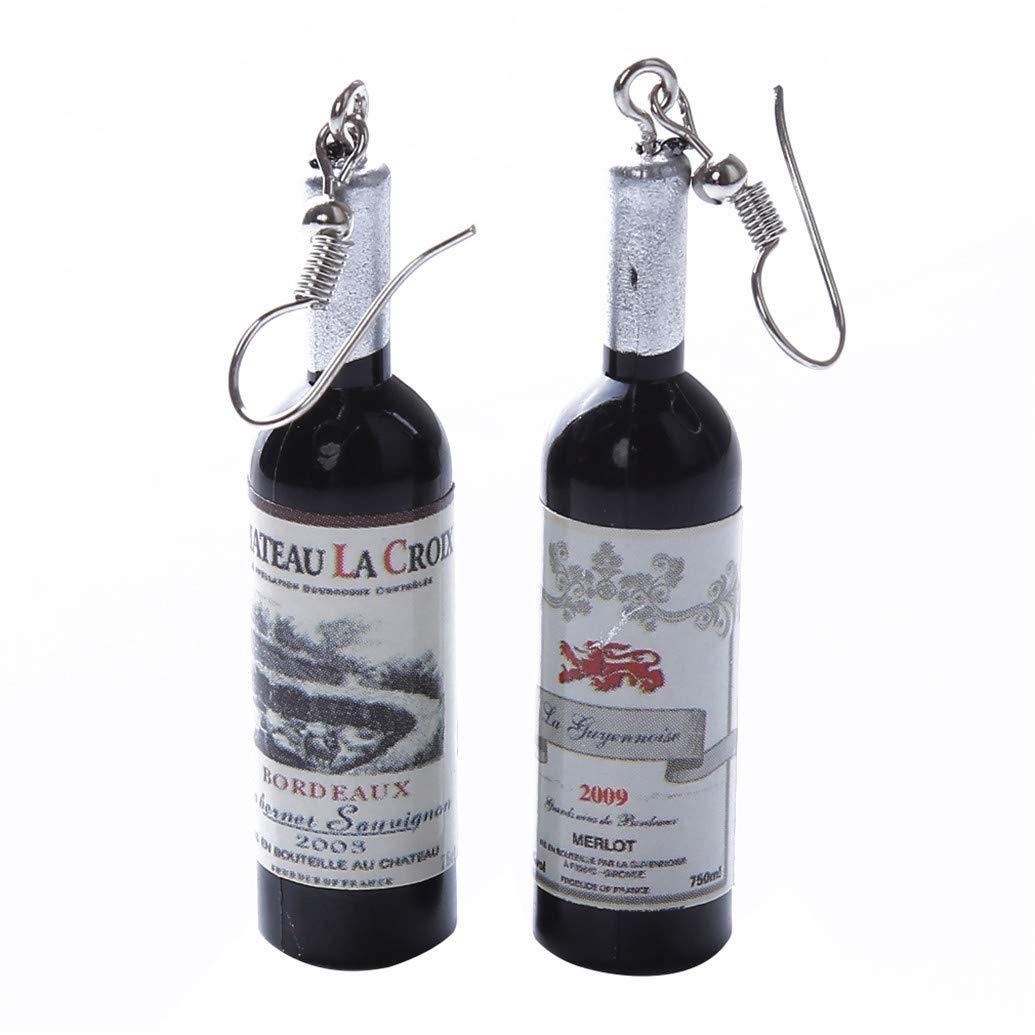 Rose hengxingwf Fashion Bottle Weinflaschen Ohrringe Wine Mini Ice Wine Bottle Siehe Produktbeschreibung