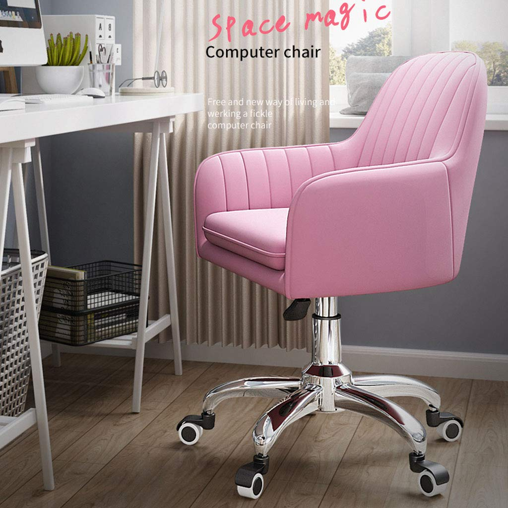 Liftable dator stol hem roterande kontorsstol student sovsal arbetsrum soffa stol skrivbord stol med ländrygg stöd 70 kg kapacitet, 43 x 45 x 90 cm Orange
