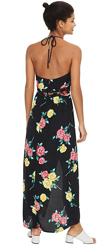 Ex TopShop Ladies Swimsuit Black Pink Floral Costume Strapless Holiday 6-16 new