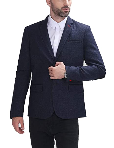 Slim Fit Leisure Blazer Blazer para Casual Hombre Simple ...