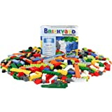 Building Bricks - 550 Pieces Compatible Toys by Brickyard Building Blocks - Bulk Block Set with 77 Roof Pieces, Free Brick Separator, and Reusable Storage Box with Handle (550 pcs)