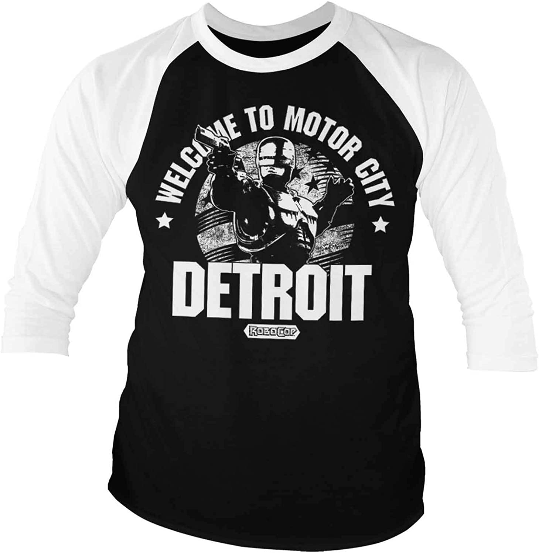 Robocop Official Welcome to Motor City - Camiseta de béisbol ...