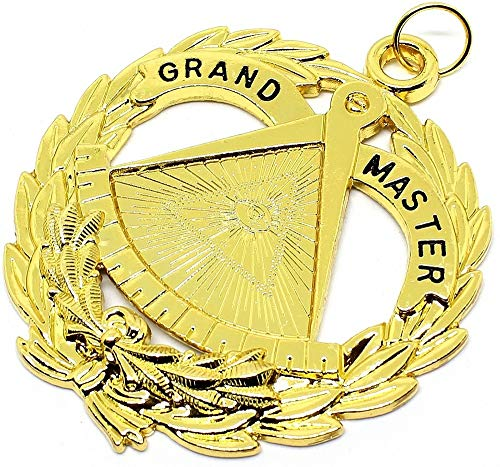 DEURA Grand Lodge Past Master Masonic Collar Jewel Gold