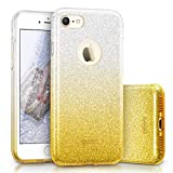 "ESR iPhone 7 Case,Glitter Sparkle Bling Case [Three Layer] Girls Women [Shock-Absorption] 4.7"" iPhone 7 (2016 Release)(Yellow)"