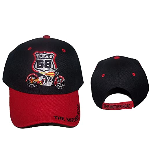 Route 66 Harley Motorcycle The Mother Road Baseball Caps Embroidered ... a467627ff490