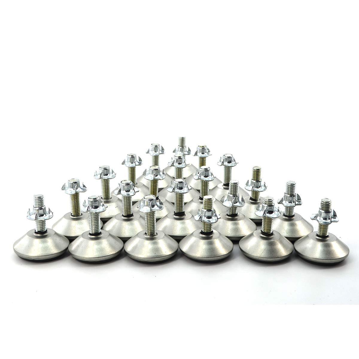 21 juegos de patas de nivelaci/ón de mesa M8 tama/ño de rosca ajustable