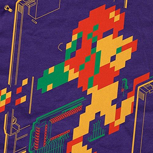 Purple Camiseta Classic Nes para Samus hombre Hormiga Retro Gamer 8 Switch bit nXRgqP6w