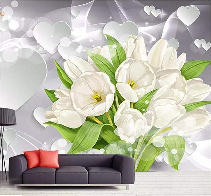 Wiwhy Fondo De Pantalla Personalizado 3D Mural Tulipán Ramo Tipo ...