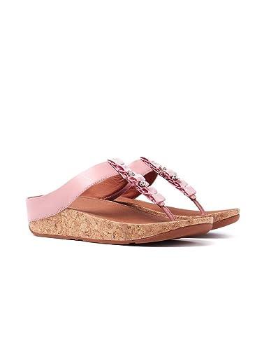 c4907a4771b42 Fitflop Women s Ruffle Toe-Thong Sandals - Dusky Pink