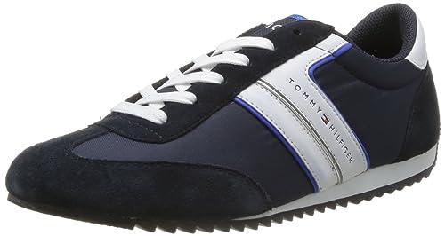 Tommy Hilfiger Branson 4C - Zapatillas de deporte de cuero para hombre azul Bleu (403 Midnight/Turkish Sea) 41: Amazon.es: Zapatos y complementos