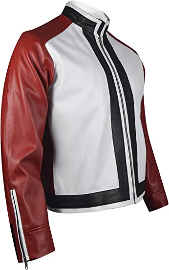 King Of Fighters 14 Game Rock Howard Red White Leather Jacket Xxs 3xl Clothing Amazon Com Drawn in around 3 minutes more than 10 minutes! king of fighters 14 game rock howard red white leather jacket xxs 3xl