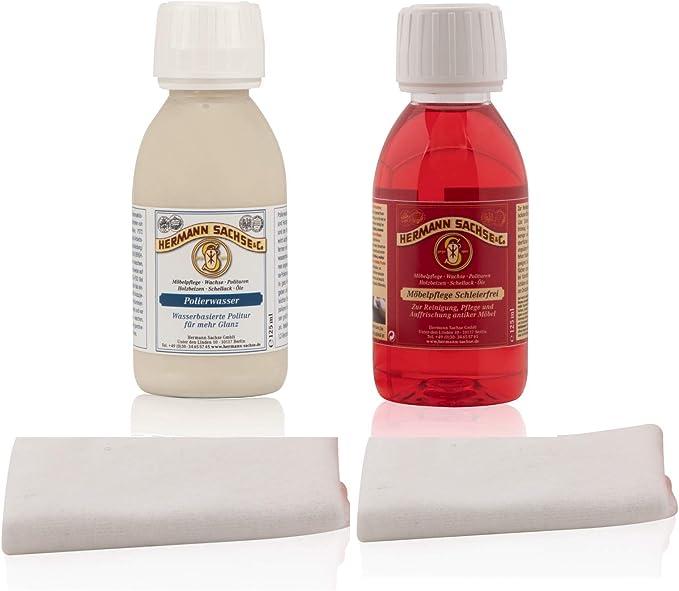 Cuidado de juego de muebles Möbelaufbereiter abrillantador para muebles goma laca brillante pulido agua/velo sin contra manchas y arañazos