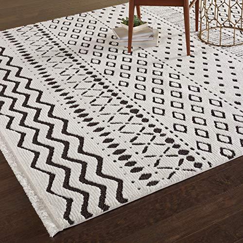 Rug Black Nourison Nourison (Rivet Contemporary Geometric Rug, 10' 6