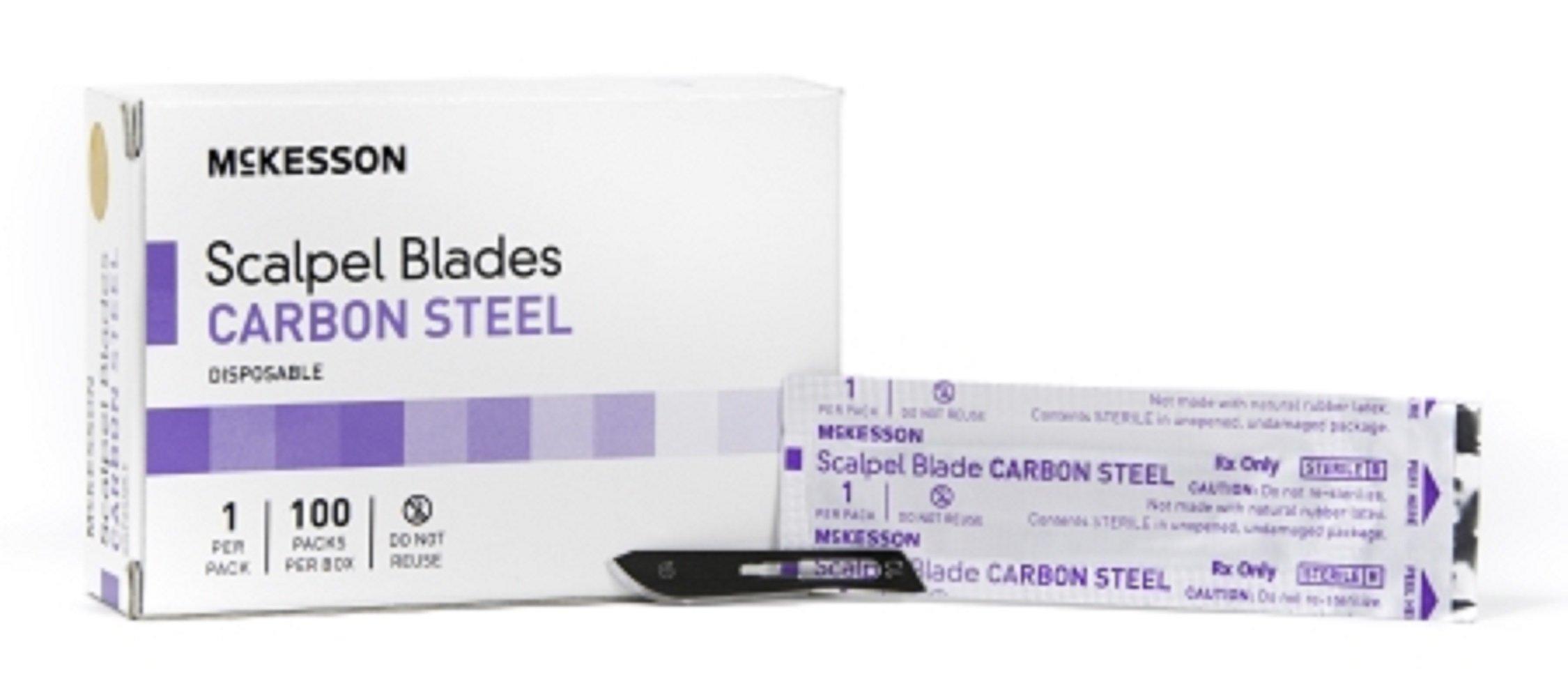 McKesson Brand - Surgical Blade - Carbon Steel - Size 15 - Sterile Disposable - Knife Edge - 1000pcs/Case