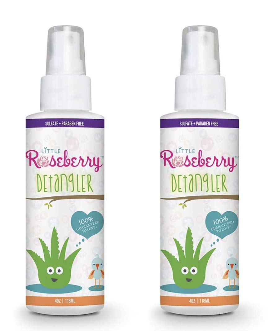 Hair Detangler Spray for Kids. Made with Organic Aloe and Natural Vitamins to Hydrate. Organic Detangler and Leave In Conditioner for Children & Adults. No Chemicals or Fragrance. USA Made. (2 Pack)