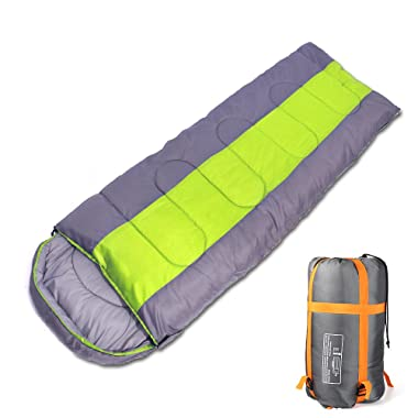 Innospo Sleeping Bag, Car Camping Packable Backpacking Mummy Bags with Waterproof Ultralight Lightweight, 2 Bags Spliced as a Double Portable Bag for Sports Outdoors in All Seasons