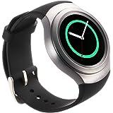 Gear S2 バンド対応, 【Valkit】 Gear S2 ベルト 本革 交換バンド クロコダイル 高級レザー スマートウォッチ 腕時計ストラップ Samsung Gear S2 SM-R720/SM-R730専用, (ブラック)
