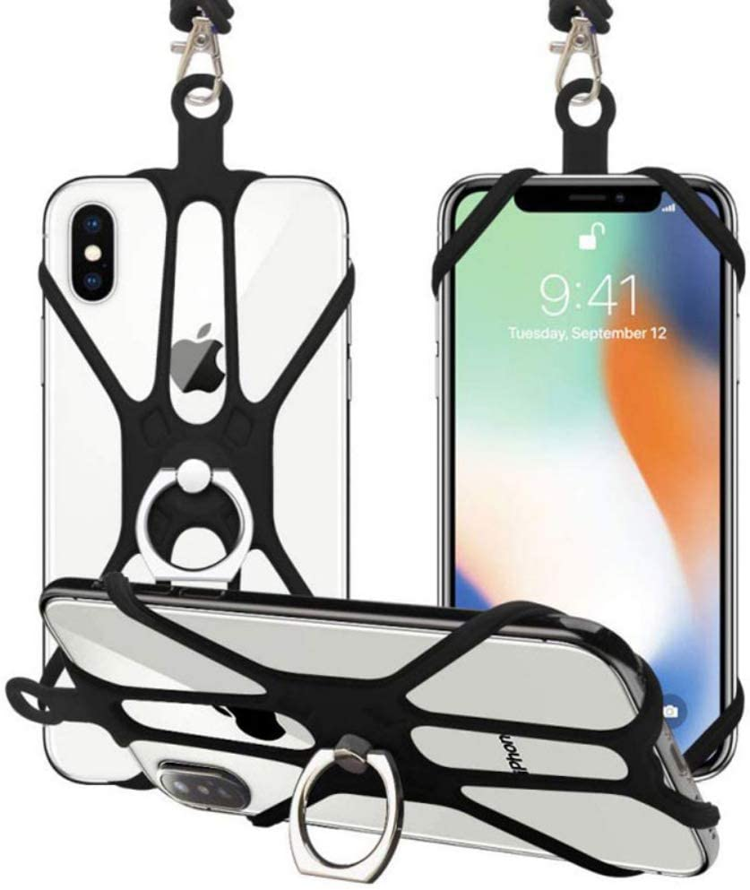 Universal Smartphone Cover Silicone Case Holder with Kickstand ...