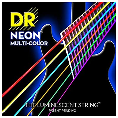 DR Multi Color Neon Electric Guitar String