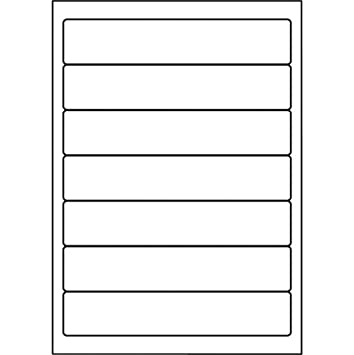 5 Star - Etiquetas para lomo de archivadores 192 x 38 mm, color blanco (700 unidades): Amazon.es: Oficina y papelería
