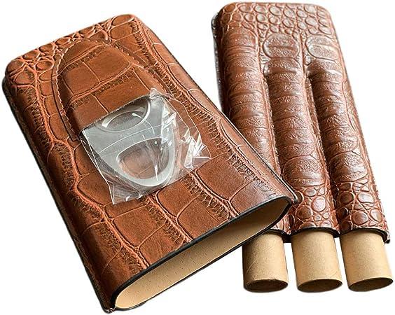 Hellery Estuche para Cigarros con Capacidad para Puros con Cuchilla: Amazon.es: Hogar