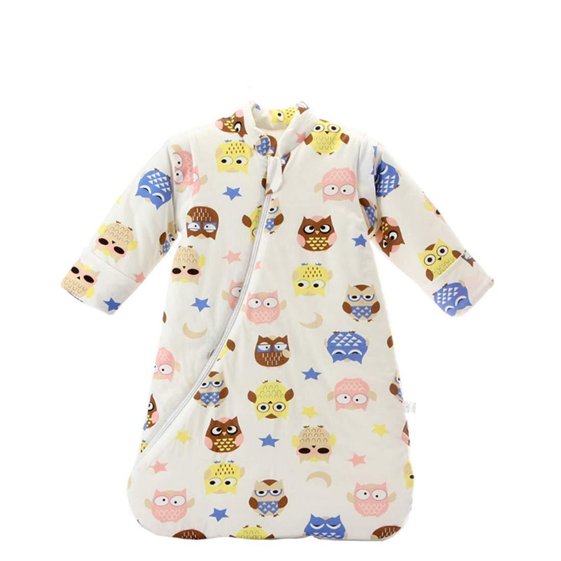 ALLAIBB Newborn Baby Warm Thick Sleepsack Cartoon Cotton Wearable Blanket Bunting Bag size S(0-5M) (Animal World)