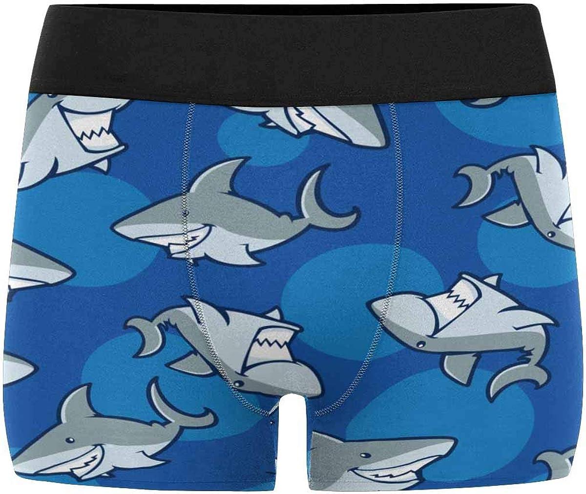 XS-3XL INTERESTPRINT Boxer Briefs Mens Underwear Fish Pattern
