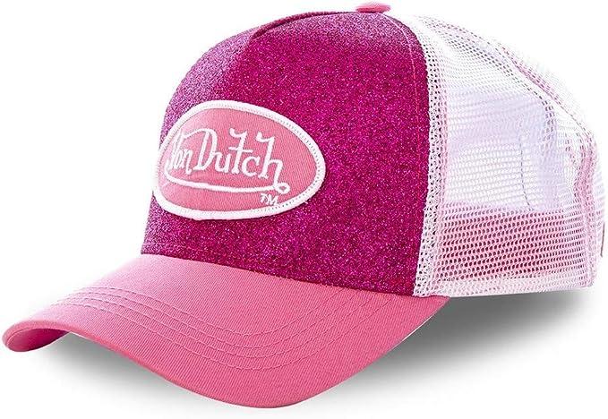 Von Dutch colore Berretto da baseball con strass Nero//Rosa