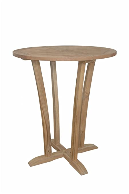 Amazoncom Anderson Teak TBBT Descanso Round Bar Table - Anderson round table