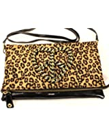 Betsey Johnson Peace-Ful Cross Body (Natural Animal Print)