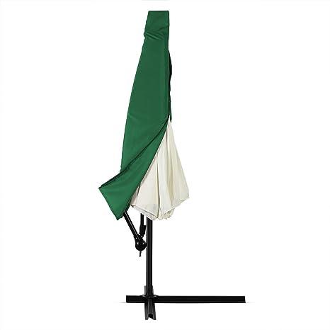 Deuba Funda de protección Verde para sombrillas de Ø 2 m - Lona toldo Impermeable protección con Cremallera: Amazon.es: Jardín