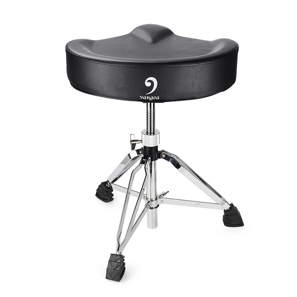 Vangoa T900 Adjustable Padded PU Cushion Drum Throne for Drummer, Percussion, Keyboard, Piano Players