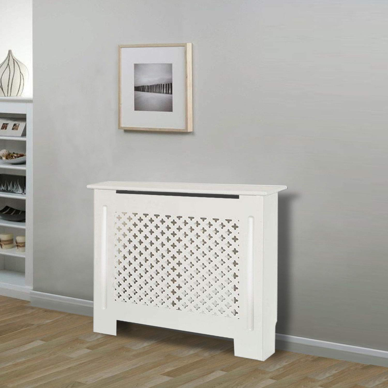 Radiator covers cabinet modern home furniture cross design mdf white painted small amazon co uk kitchen home