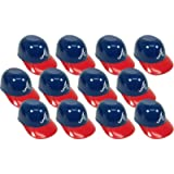 BD&A MLB Mini Batting Helmet Ice Cream Sundae/Snack Bowls-12 Pack