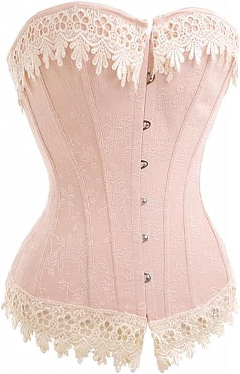 Alivila.Y Fashion Womens Sexy Vintage 1920s Renaissance Lace Trim Corset Victorian Bustier