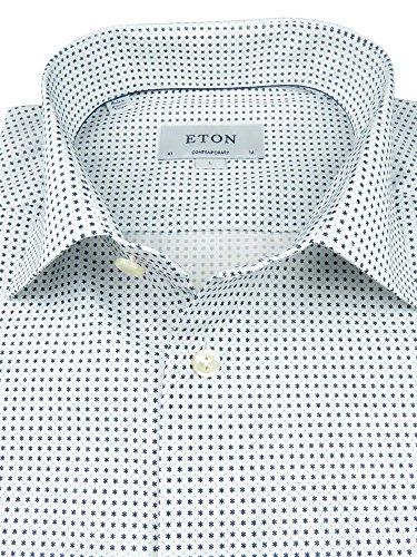 Eton, Natur-weißes Hemd, Kentkragen, Contemporary Passform, mit kleinen Sternchen