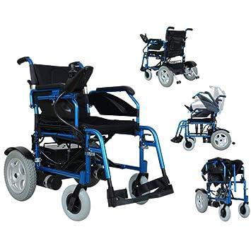 Silla de ruedas plegable con ayuda de movilidad, silla de ...