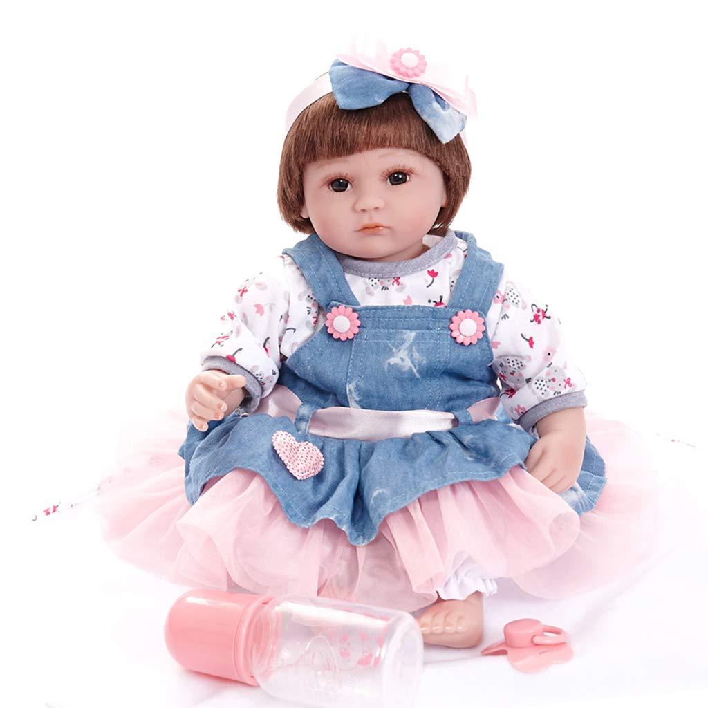 Baoblaze Bella Bambola del Bambino Rinato Giocattolo Destinato Ai Bambini - blu + rosa