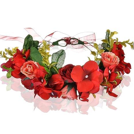 meilleur endroit pour différents types de meilleurs prix Bandeau à Fleurs, Cheveux Couronne, Fleur Bandeau, Cheveux Bandes,Floral  Bandeau,Fleur Couronne Bandeau,Accessoires à Cheveux