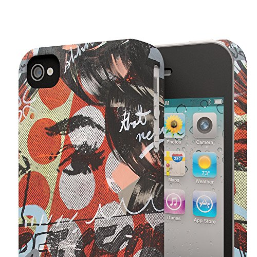 Koveru Back Cover Case for Apple iPhone 4/4S - Girl in mood