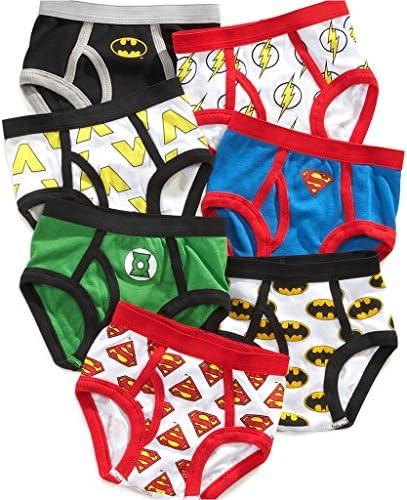 Justice League Little Boys '幼児用ブリーフ、パック7つのバットマンスーパーマンFlash