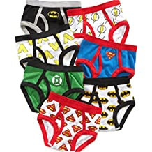 Justice League Little Boys' Toddler Briefs, Pack of Seven Batman Superman Flash