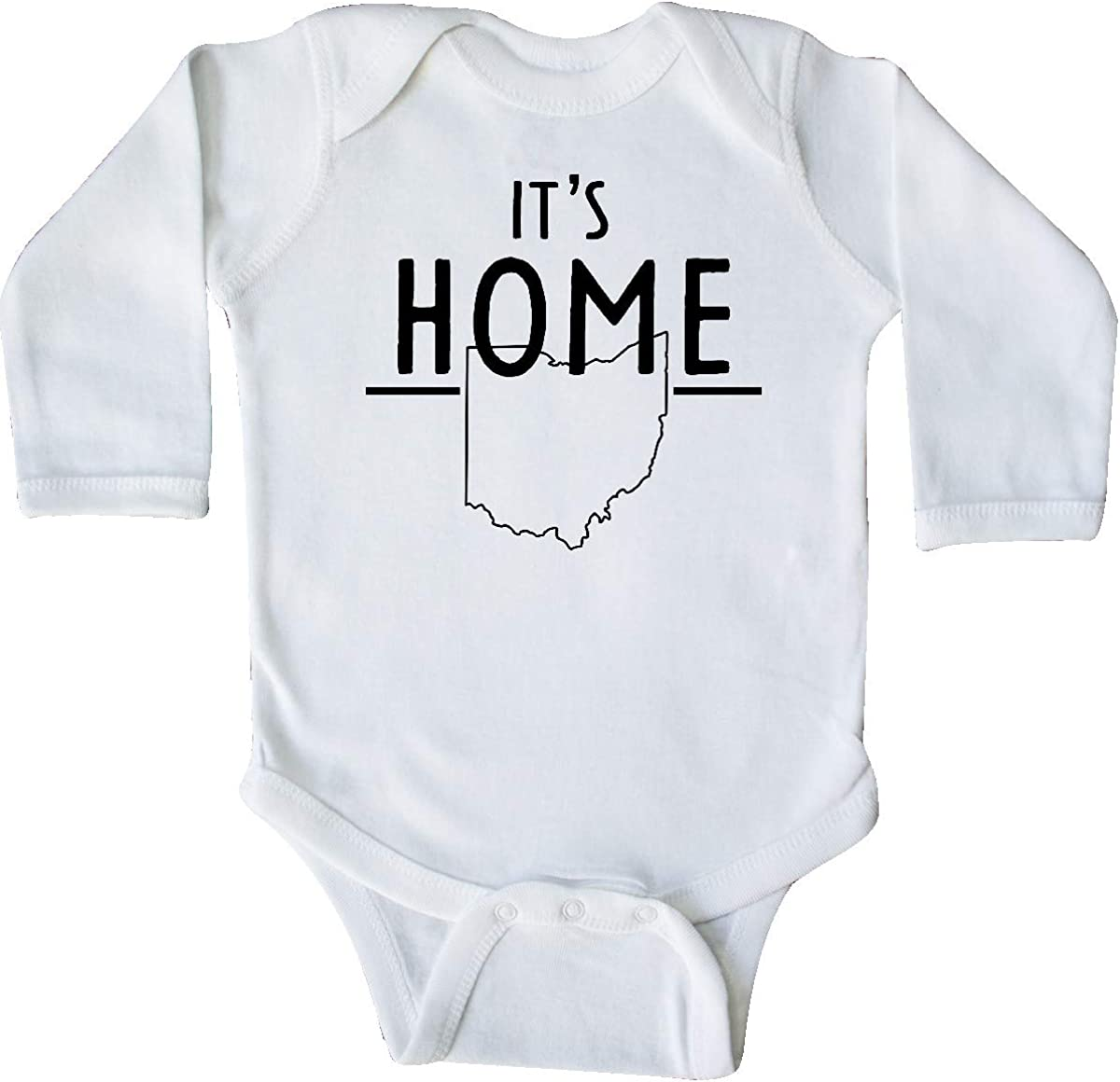 inktastic Its Home State of Ohio Outline Long Sleeve Creeper