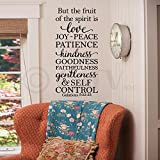 But The Fruit Of The Spirit Is Love Joy Peace Patience Kindness Goodness Faithfulness Gentleness And Self Control. Galatians 5: 22-23 wall saying vinyl lettering art decal quote sticker home decal