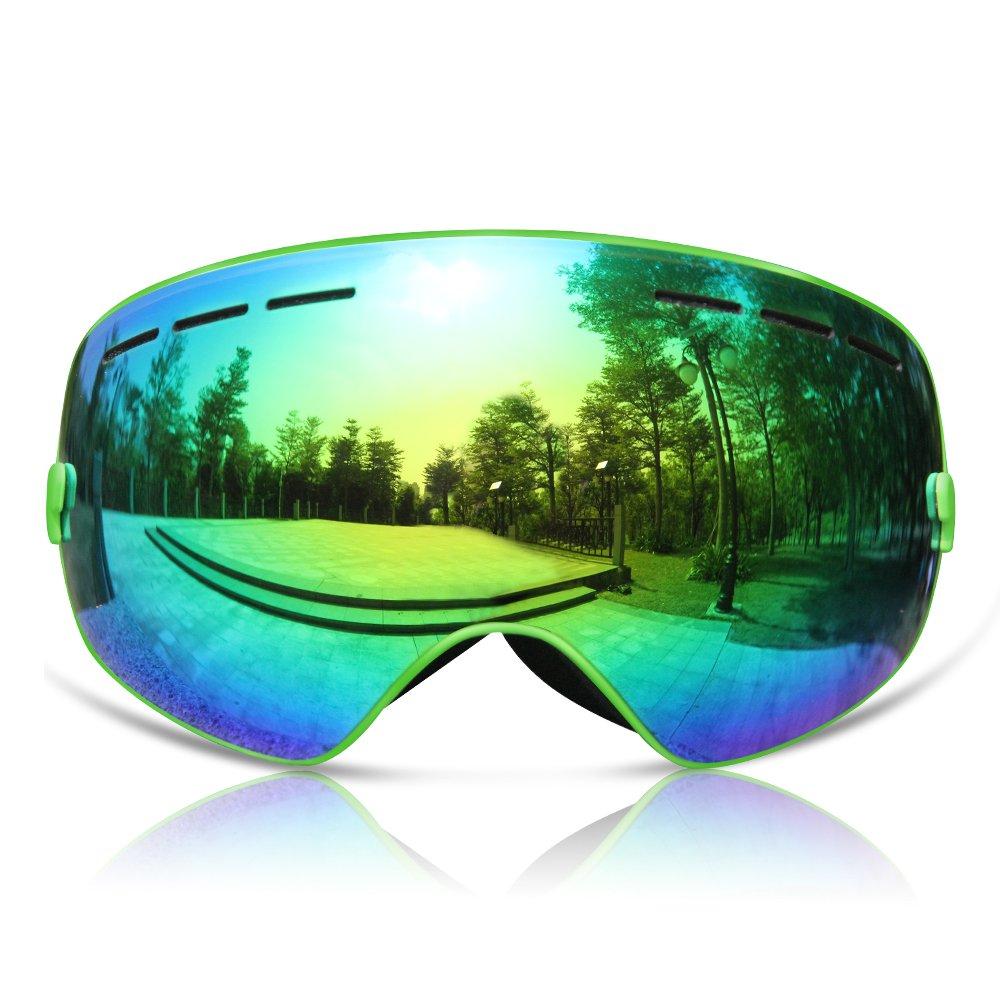 GANZTON Gafas de esquí Gafas de snowboard Doble lente Anti-UV Anti-Niebla Over