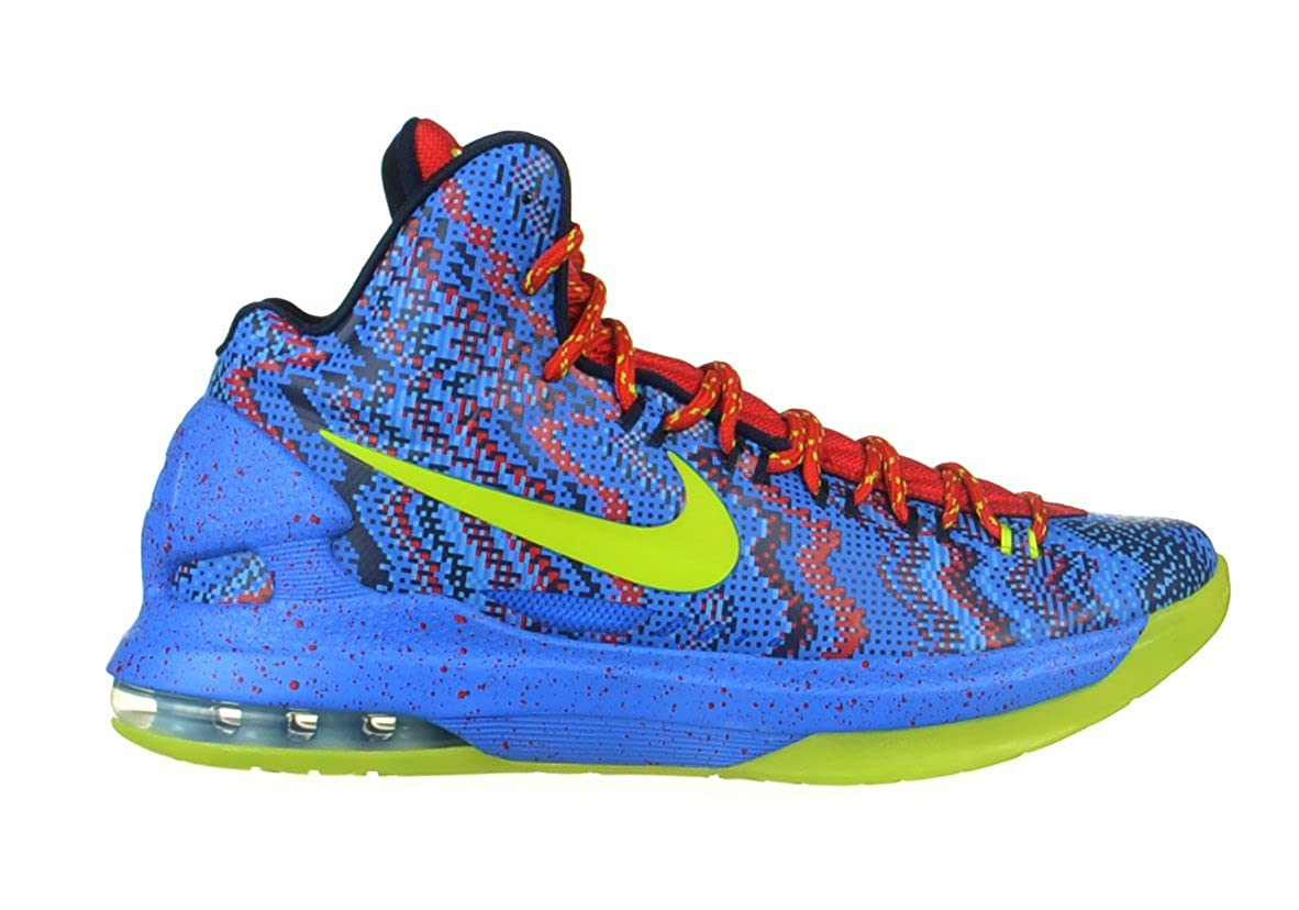 new product 99722 7892d Amazon.com   Nike KD V Christmas Men s Kevin Durant Shoes OKC Blue Green Red  554988-401 (10 D(M) US)   Fashion Sneakers