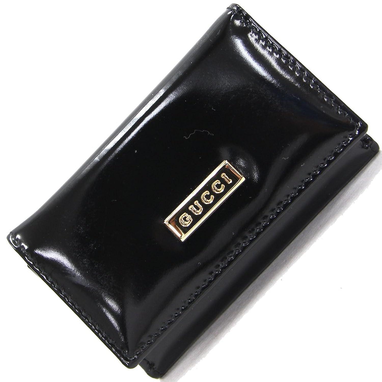 GUCCI(グッチ) 6連キーケース ブラック カーフレザー 中古 黒 ロゴ キーホルダー 革 GUCCI [並行輸入品] B07BKNP58J